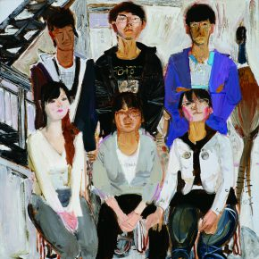 31 Dai Shihe, Students of the Art Class, oil on canvas, 80 x 80 cm, 2010