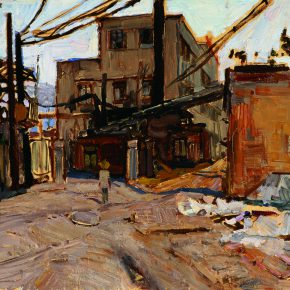 36 Dai Shihe, The Big Tiger Ditch Street Area of Chengde, oil on canvas, 38 x 48 cm, 2007