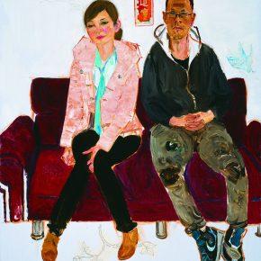 39 Dai Shihe, Guangzhou's Counterparts Huang Guangyi and Cao Yamin, oil on canvas, 110 x 100 cm, 2014