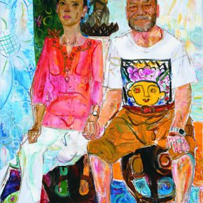 43 Dai Shihe The Chinese Painter from Southeast Asia Jiang Shiwen and His Wife oil on canvas 100 x 81 cm 2016 290x290 - Dai Shihe