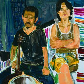 46 Dai Shihe Liu Gang from the Wen Mountain and His Friend oil on canvas 100 x 100 cm 2015 290x290 - Dai Shihe