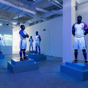 "Payne Zhu 赖克LIKE-LIKE Football Installation Football Clothing Football Shoes Fiberglass Models Light Box Plinth 2017 Courtesy of Artist and MadeIn Gallery 290x290 - Ming Contemporary Art Museum presents ""Precariat's Meeting"" in Shanghai"