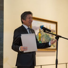 01 Fan Di'an President of the Central Academy of Fine Arts delivered a speech at the opening ceremony 290x290 - The Meeting of Dniepe: A Show and Interaction between Contemporary Art from China and Ukraine