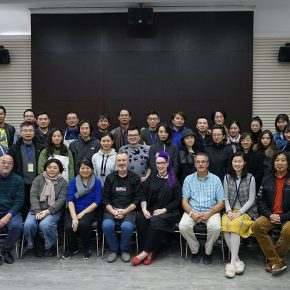 """01 Group photo of the honored guests attended the lecture and course 290x290 - When Teachers Once Again Become Students: """"Propelling the popularization for the Knowledge & Charactistic of Acrylic Materials and its Application"""""""