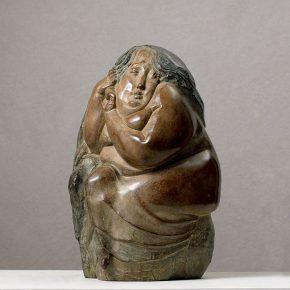 01 Tian Shixin, Tang Girl series No.2, cast copper, 20 × 20 × H31 cm, 1996