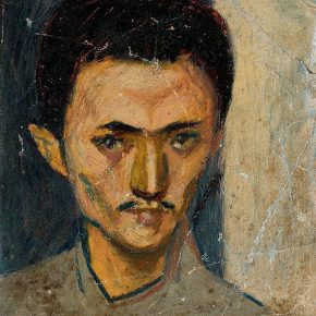 02 Tian Shixin The Self Portrait in the 1970s oil pastel on canvas 14 × 16.5 cm 1971 290x290 - Tian Shixin