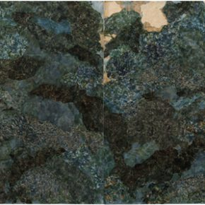 03 Zhu Yancun Breeze Swept Over Gently Paper Collage on Canvas 2017 140×480cm 290x290 - Spiritual Transformation: Zhu Yancun Solo Exhibition Featuring His Recent Work at Deshan Art Gallery in Beijing