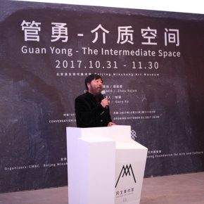 "04 Artist Li Jin addressed the opening ceremony 290x290 - ""Guan Yong – The Intermediate Space"": A Fable about Creation and Viewing Methods"