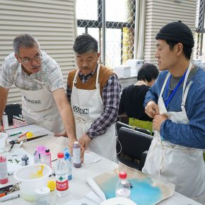 """04 Teachers from CAFA attended the course 290x290 - When Teachers Once Again Become Students: """"Propelling the popularization for the Knowledge & Charactistic of Acrylic Materials and its Application"""""""