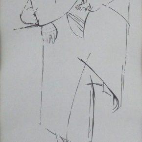 04 Tian Shixin A Woman Carrying a Child on Her Back No.2 pen on paper 17 × 28 cm 1984 290x290 - Tian Shixin