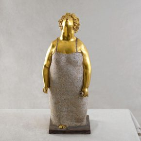 06 Tian Shixin, Morning, lacquer, 24 × 18 × H59 cm, 1995