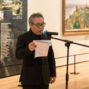 06 Wang Shaojun Deputy Party Secretary of the Central Academy of Fine Arts presided over the opening ceremony 290x290 - The Meeting of Dniepe: A Show and Interaction between Contemporary Art from China and Ukraine