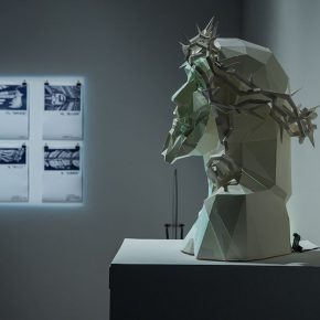 """07 Installation view of the exhibition 3 290x290 - """"The Wild Goose Flies over the Quiet Pond but Does not Leave a Shadow on the Pond"""": Xu Bing and His Students' exhibition opened in Suzhou"""