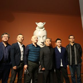 "10 Group photo of the honored guests at the exhibition 290x290 - Inquiry of the Heart: Wang Shaojun's Solo Exhibition ""It's Me"" in Chongqing"