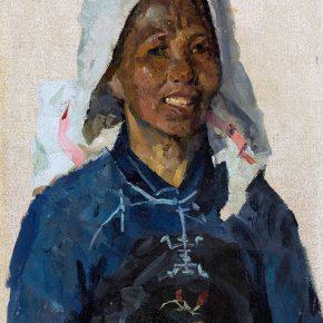 10 Tian Shixin Dong Girl oil on canvas 50 × 35 cm 1981 290x290 - Tian Shixin