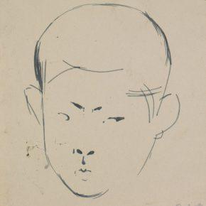 11 Tian Shixin, Portrait of Erlinzi, pen on paper, 14 × 16 cm, 1984