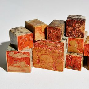 "12 Wang Shaojun Qingtian stone seals 290x290 - Inquiry of the Heart: Wang Shaojun's Solo Exhibition ""It's Me"" in Chongqing"