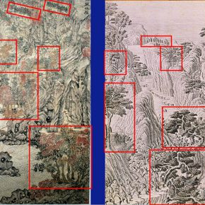 """13 Joan Stanley Baker compared the details of paintings to identify """"Ju Ou Woods and Houses"""" 290x290 - Joan Stanley-Baker × Shao Yan: Wang Meng's """"Dwelling in the Qingbian Mountains"""" and Other Works under His Name"""