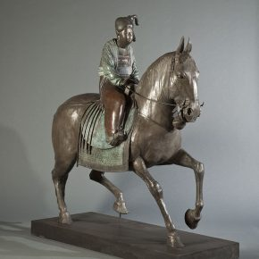 16 Tian Shixin, The Portrait of Madame Guo Quo Going Sightseeing in Spring, cast copper, 60 × 150 × H164 cm, 2008