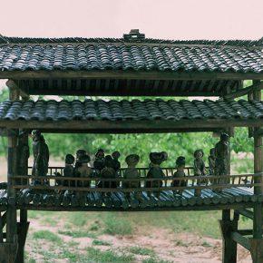 19 Tian Shixin, The Bridge of Life – In Rain and Shine, copper, wood, 565 × 270 × H210 cm, 2004