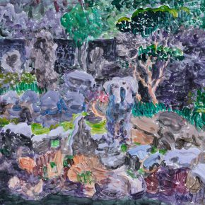 20 Zhou Chunya The Manuscript of A View of Yuyuan Garden 33 x 44 cm acrylic on paper 2017 290x290 - The Research Exhibition of Chinese Contemporary Art Masters' Manuscripts (First Chapter) & Seminar was held