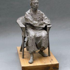 22 Tian Shixin, Portrait of Seated Lu Xun No.2, cast copper, 50 × 80 × H95cm, 2007