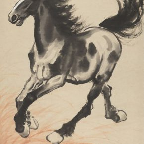 "23 Xu Beihong A Fleeing Horse in Stampede 105 × 60.8 cm 1944 in the collection of National Art Museum of China 290x290 - ""Beauty in the New Era"": Special Exhibition of the Collection of NAMOC Presents the Context of Modern Chinese Art"