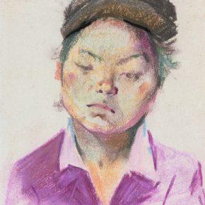25 Tian Shixin, A Miao Woman, pastel on paper, 23 × 18 cm, 1981