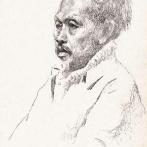 26 Tian Shixin An Old Miao Peasant pencil on paper 18 × 26 cm 1986 290x290 - Tian Shixin