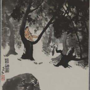 "27 Li Keran Rhyme of Twilight Chinese painting 61.1 × 48.5 cm in the collection of National Art Museum of China 290x290 - ""Beauty in the New Era"": Special Exhibition of the Collection of NAMOC Presents the Context of Modern Chinese Art"