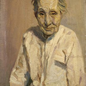 28 Tian Shixin, Portrait of My Mother, oil on canvas, 60 x 45 cm, 1983