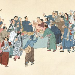 "31 Ye Qianyu National Unity Chinese painting 123 × 183.4 cm 1953 290x290 - ""Beauty in the New Era"": Special Exhibition of the Collection of NAMOC Presents the Context of Modern Chinese Art"