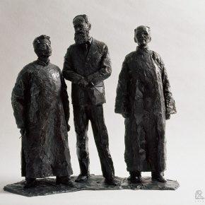 35 Tian Shixin, Three Friends, cast copper, 53 × 32 × H53 cm, 2005