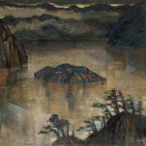 37 Tian Shixin, a Storm is Coming, oil on canvas, 48 × 45 cm, 1972