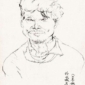39 Tian Shixin A Watertown Farmer pen on paper 18 × 24 cm 1984 290x290 - Tian Shixin