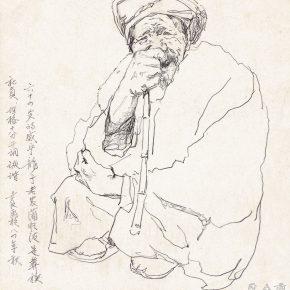 40 Tian Shixin Sketching in Watertown pencil on paper 25 × 25 cm 1984 290x290 - Tian Shixin