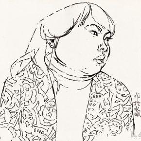 42 Tian Shixin, Sketching in Watertown, pencil on paper, 25 × 25 cm, 1984