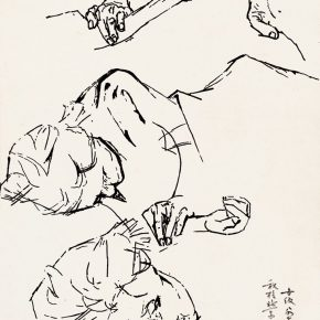 43 Tian Shixin, My Mother Who is Sleeping, pen on paper, 30 × 21 cm, 1984