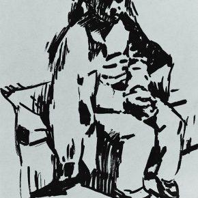 52 Tian Shixin Portrait of My Little Daughter pen on paper 10 × 14 cm 1986 290x290 - Tian Shixin
