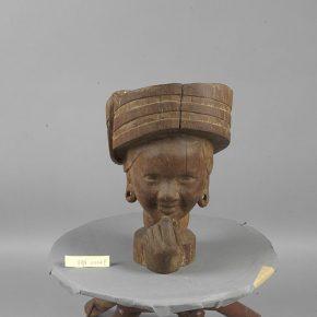 53 Tian Shixin Bride wood 22 × 22 × H34 cm 1982 in the collection of National Art Museum of China 290x290 - Tian Shixin