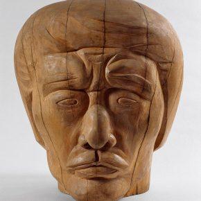 54 Tian Shixin, Self-Statue, wood, 46 × 43 × H50 cm, 1994