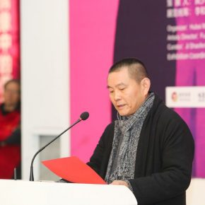 01 Fu Zhongwang Art Director of Hubei Art Museum delivered a speech 290x290 - Crossing the Idol and Maze: Primary Form in Re-Idol – Yue Minjun Solo Exhibition Opened