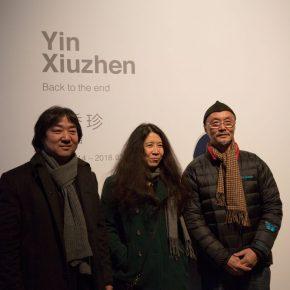 "03 Artists Song Dong Yin Xiuzhen Lu Shengzhong at the exhibition 290x290 - When Only Left with Future, We Can Start Again – Yin Xiuzhen's ""Back to the end"" opened in Pace Beijing"
