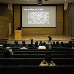 "03 View of the lecture 1 290x290 - Arne De Boever: ""Automatic Art, Automated Trading"""