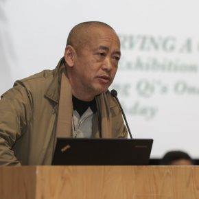 03 Wang Huaxiang Director of the Department of Printmaking of the School of Plastic Arts CAFA addressed the opening ceremony 290x290 - Carved Traces of Wang Qi in Chinese Art: An Exhibition Commemorating Wang Qi's 100th Birthday has opened
