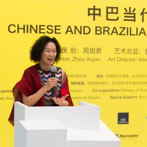 "04 The Brazilian curator Sarina Tang addressed the opening ceremony 290x290 - Brazilian Art Landed in China: ""Troposphere"" Chinese and Brazilian Contemporary Art Exhibition opened"