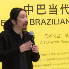 "05 The Chinese curator Bao Dong addressed the opening ceremony 290x290 - Brazilian Art Landed in China: ""Troposphere"" Chinese and Brazilian Contemporary Art Exhibition opened"