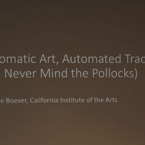 "06 View of the lecture 1 290x290 - Arne De Boever: ""Automatic Art, Automated Trading"""
