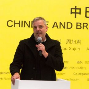 "07 Brazilian artist Caio Reisewitz addressed the opening ceremony on behalf of the Brazilian artists 290x290 - Brazilian Art Landed in China: ""Troposphere"" Chinese and Brazilian Contemporary Art Exhibition opened"