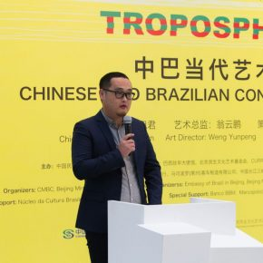 "08 Chen Yu Head of the Academic Department of Beijing Minsheng Art Museum presided over the opening ceremony of the exhibition 290x290 - Brazilian Art Landed in China: ""Troposphere"" Chinese and Brazilian Contemporary Art Exhibition opened"